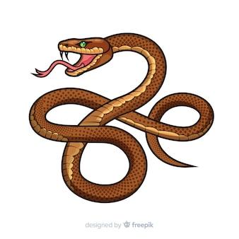 Caricatura, cobra, fundo