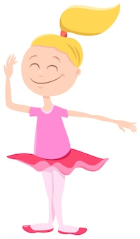 Caricatura, de, bailarina, menina, personagem