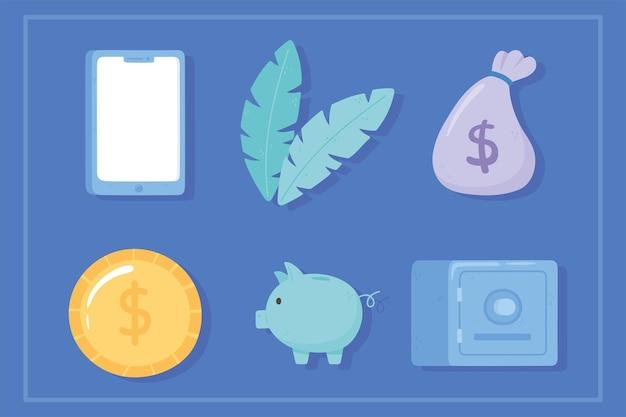 Caricatura de banco online