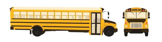 Caricatura, de, escola, autocarro