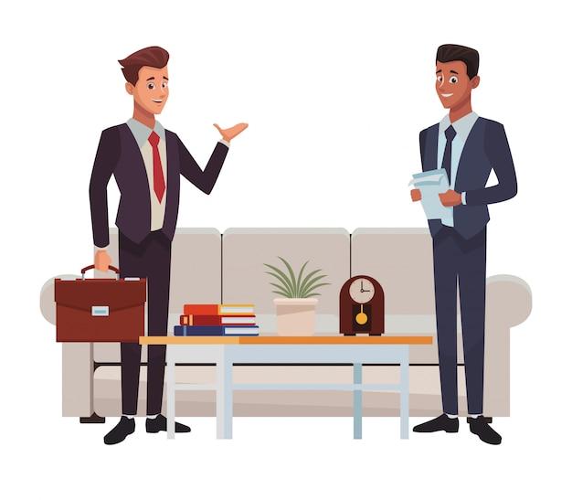 Caricatura de reunião de negócios