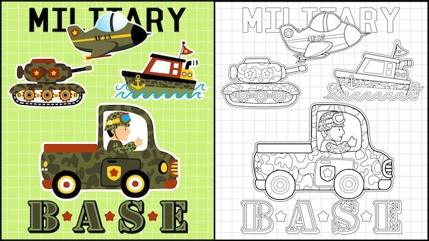 Caricatura de veículos militares