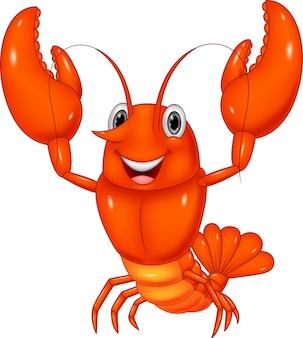 Caricatura, lagosta, ilustração