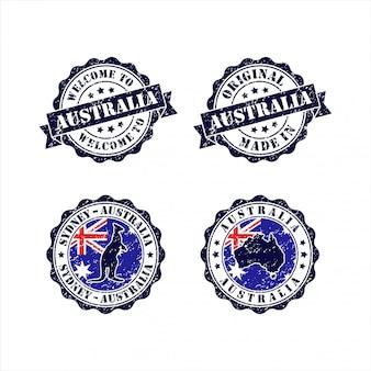 Carimbo bem-vindo à coleção sydney australia