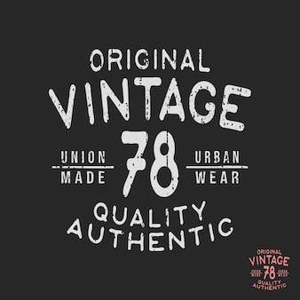 Carimbo de t-shirt vintage