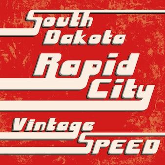 Carimbo vintage rápido da cidade