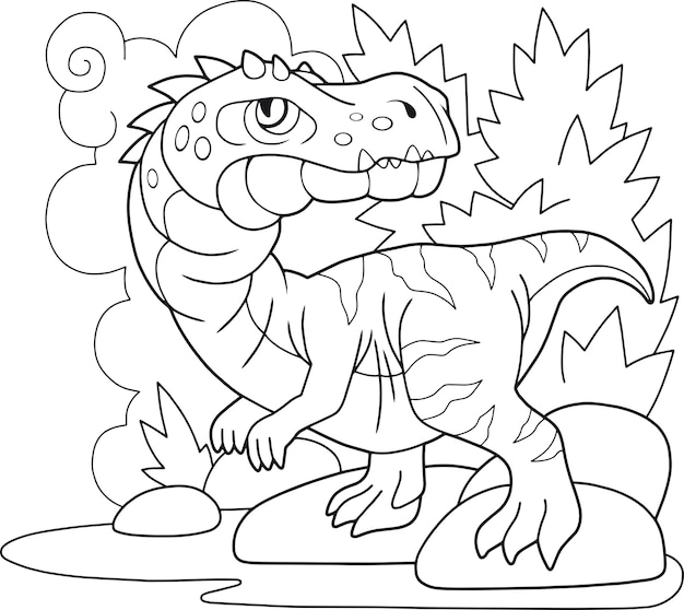 Cariônico de dinossauro de desenho animado
