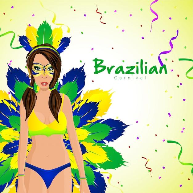 Carnaval brasileiro com personagens de menina