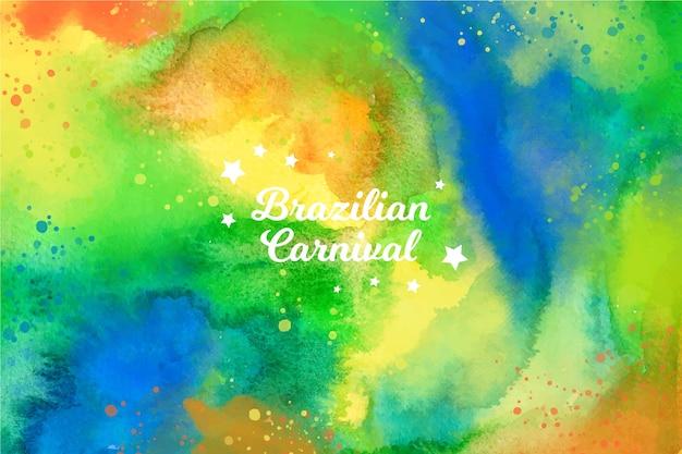 Carnaval brasileiro em aquarela em cores vivas
