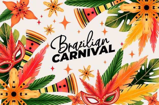 Carnaval brasileiro em aquarela