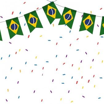 Carnaval celebração brasil fundo