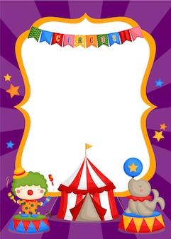 Carnaval circo cartão