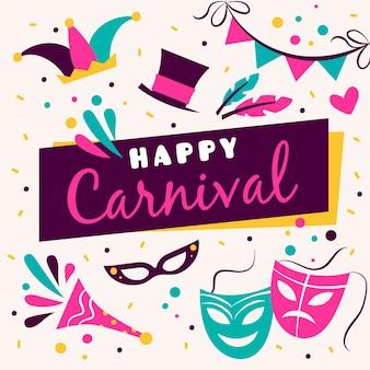 Carnaval colorido mão desenhada