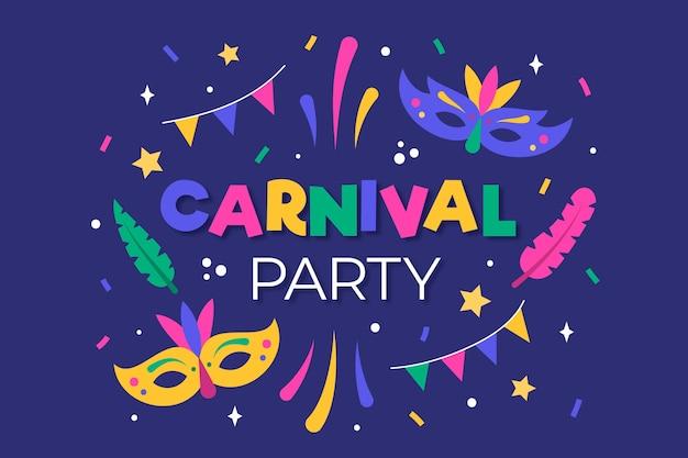 Carnaval com máscara e penas