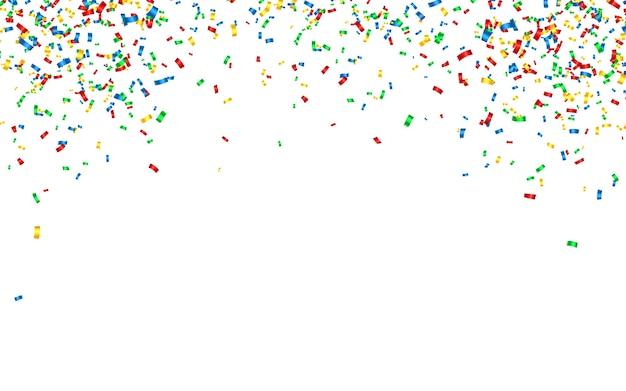 Carnaval de celebração caindo confete brilhante