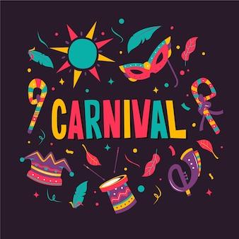Carnaval de mão desenhada
