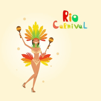 Carnaval do brasil colorido rio holiday festa festa