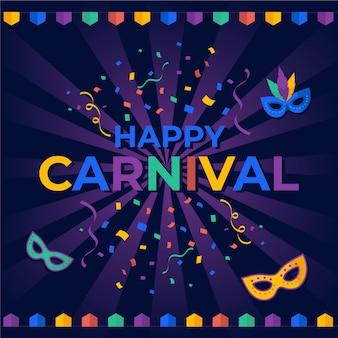 Carnaval em design plano