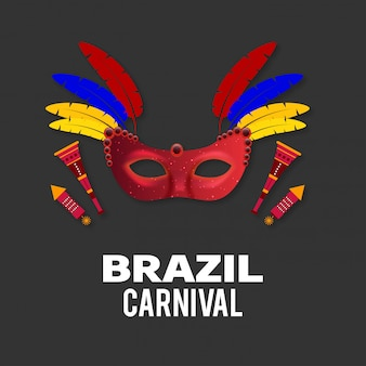 Carnaval festivo fundo de máscara