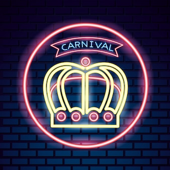 Carnaval máscara festiva