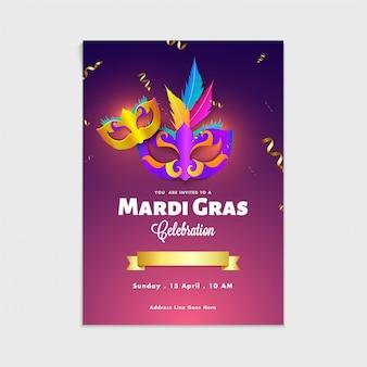 Carnaval mask, masquerade, mardi gras. carnaval, cartaz do partido da noite, insecto do dance party.