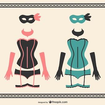 Carnaval mulheres trajes