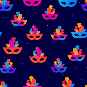 Carnaval seamless pattern background