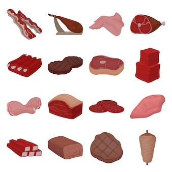 Carne de ilustração de alimentos