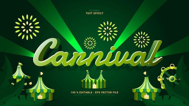 Carnival editable text effect, texto e fonte podem ser alterados.