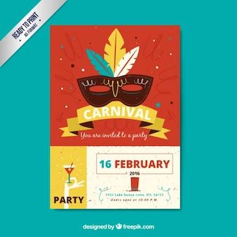 Carnival poster partido no estilo retro
