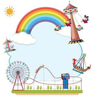 Carnvial fun fair border concept