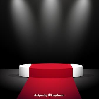Carpete e vermelha do estágio