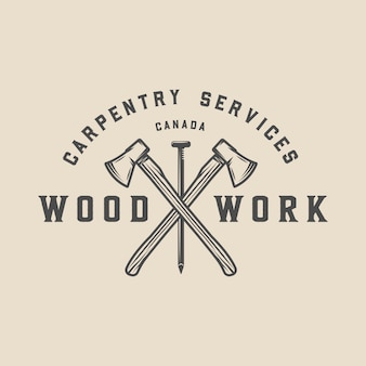 Carpintaria, emblema para madeira