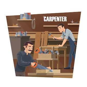 Carpinteiro, marceneiro e marceneiro