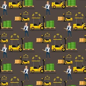 Carregador automático de armazenamento, padrão de homem de entrega