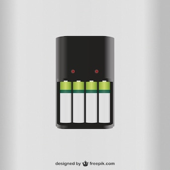 Carregador de bateria do vetor