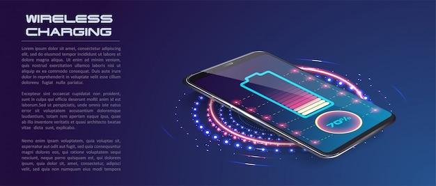 Carregamento sem fio da bateria do smartphone