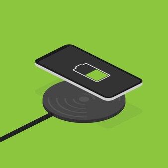 Carregamento sem fio para smartphone.