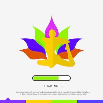 Carregando a página com o logotipo do yoga