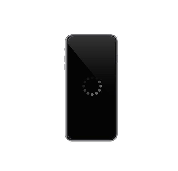 Carregando a tela do telefone carregando a ilustração vetorial do banner do telefone