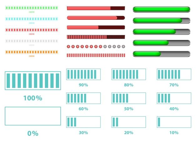 Carregando ilustração de design de barra isolada