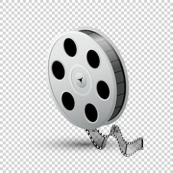 Carretel de filme, fita, bobina, realista isolado na luz