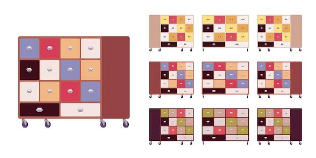 Carrinho de armazenamento de armário de cozinha