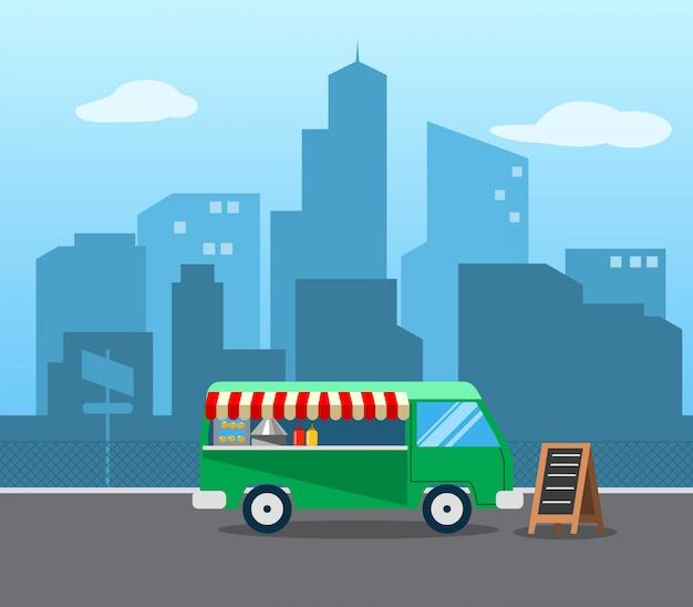 Carrinho de caminhão de comida