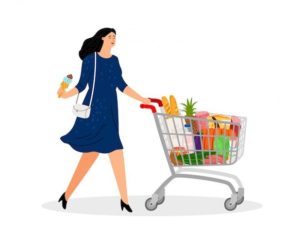 Carrinho de compras cheio