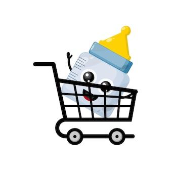 Carrinho de compras de chupeta de bebê