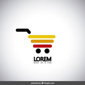 Carrinho de compras logotipo colorido