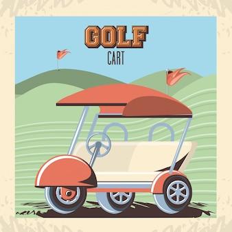 Carrinho de golfe no clube