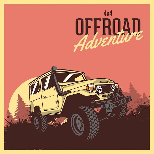 Carro 4x4 de aventura