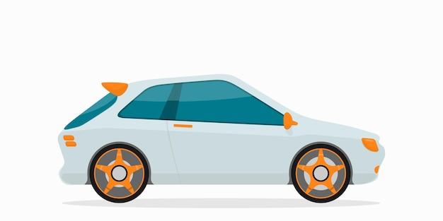 Carro citadino plano pequeno